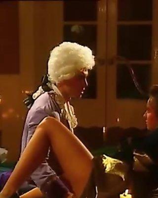 Heidi masturbates with silk panty and in stockings