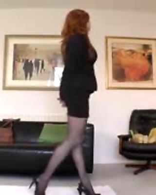 British milf pussylicking stockinged euro gal