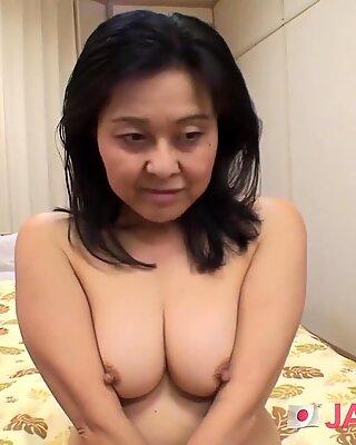 Japanese Granny Enjoys Rough Fucking