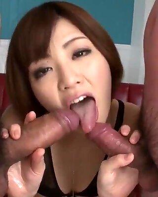 Tomoka Sakurai deals cock with - More at Pissjp.com