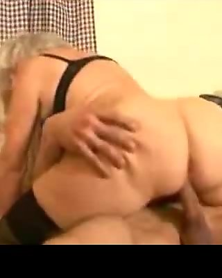 very old skinny woman gets fucked