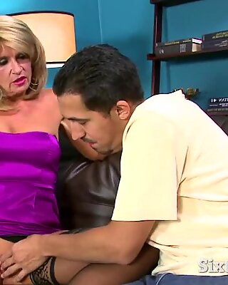 Horny Man Takes Care of Granny s Twat