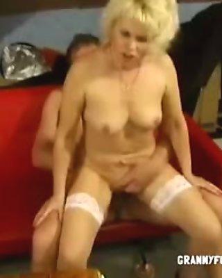 Granny In Stockings Likes It Hardcore