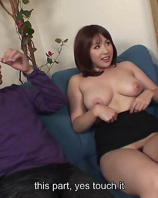 Asian slut has a pair of dicks to blow on
