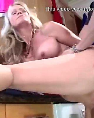 Housewife (simone sonay) With Big Juggs Fucks On Camera clip-30
