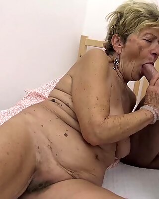 Hairy 90 years old granny banged