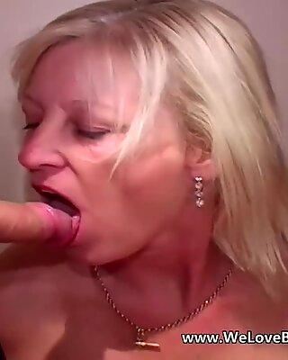 Mulher idosa maduras faz bukkake