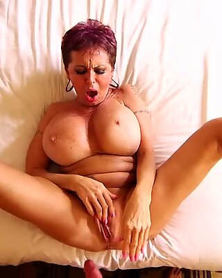 buxom european GILF squirts on a young weenie