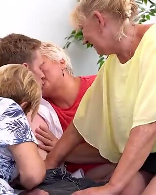 Hungry grannies attack young boy p