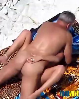 Couple fucking in water and shore