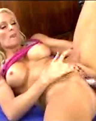 Two hot blonde lesbians toying pussy with dildo and licking