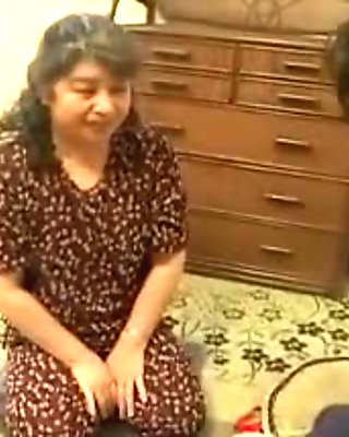 Horny Japanese mom works her sexy lips on a young cock in t