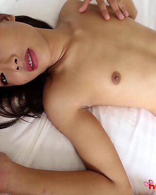 HELLOLADYBOY Skinny Asian FITS Foreign Big Dick In Her Tight Ass