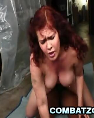Mae Victoria slides a black dick in between her tits