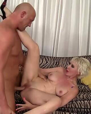 GILF Dalny Marga Gorges Herself on Cock
