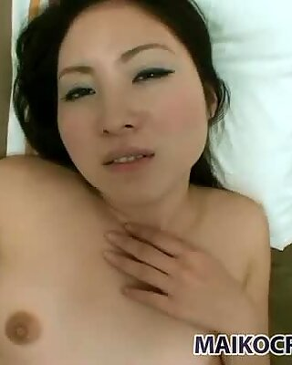 Mad Japanese milf Riho Natori begs for tough mish