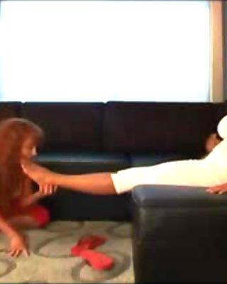 mature mistress use lesbian mature feet slave