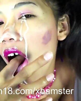 stickyasian18 Im a gogo dance with sticky face ending