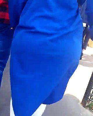 Turkish hijab cougar jiggle ass
