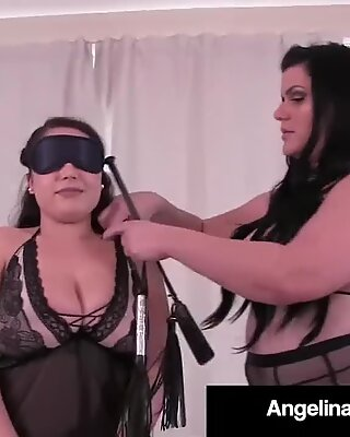 Гојазни Латино Ангелина Цастро кажњава огромну супер-секси вероницу!