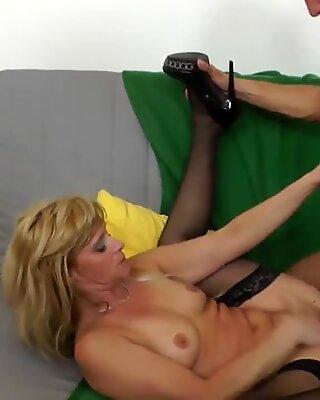 Blonde mature slut mom fucking hard