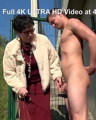 Fucked Up Granny Wanking a Vandal