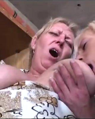 Granny watches grandpa fucks blonde babe