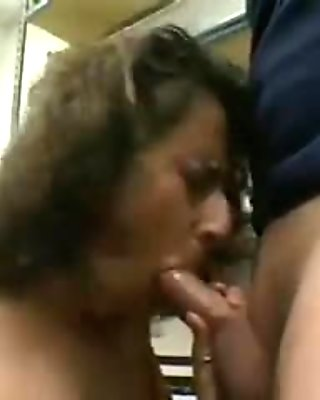 mature woman gives blowjob
