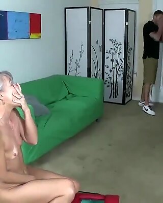 Horny granny's sex toy