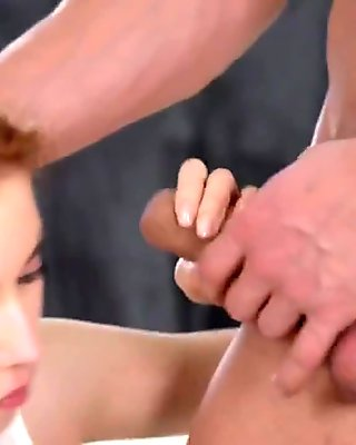 Redhead and two guys loving to try out anything