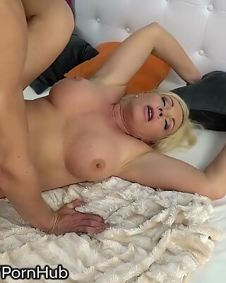Stunning Mature Rides Young stud's penis and eats Gooey Load