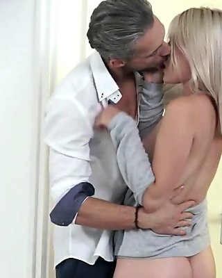 orally pleasing the cock with her hot warm lips
