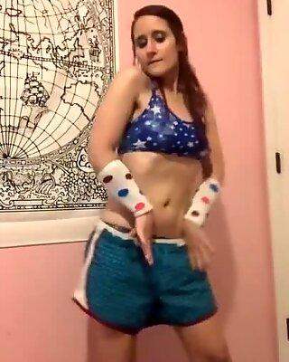 Eğlenceli dans, striptiz, alay vid