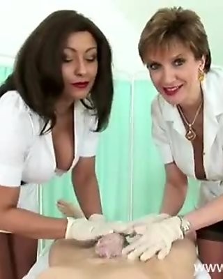 Mature busty nurses lather