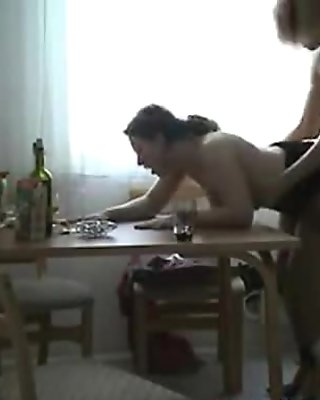 Russian chubby wife and young boy 2