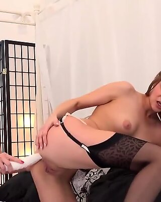 Lovely czech kittens spread their fannys with ass plug and fat vibrators